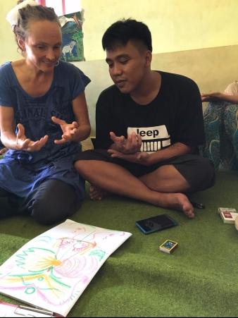 Aura Lesen mit meinen indonesischen Freunden